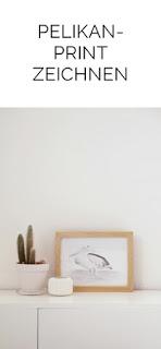 DIY Pelikan-Print zeichnen Geschenkidee Tasteboykott