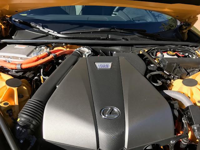 Hybrid powerplant in 2020 Lexus LC 500h