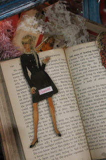 vintage glamour girl bookmark