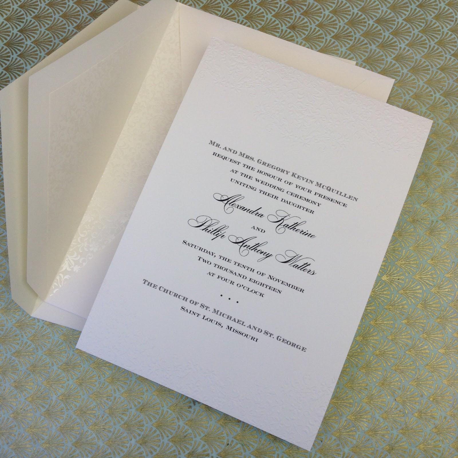 new william arthur wedding invitation samples | fresh ink : style, Wedding invitations