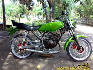 modifikasi motor rx king warna hijau