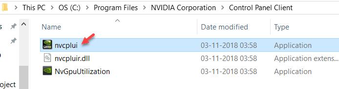 قم بتشغيل لوحة تحكم NVIDIA يدويًا لاستعادة لوحة تحكم NVIDIA المفقودة