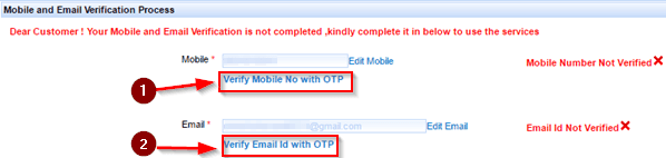 Mobile , Email verify Kare