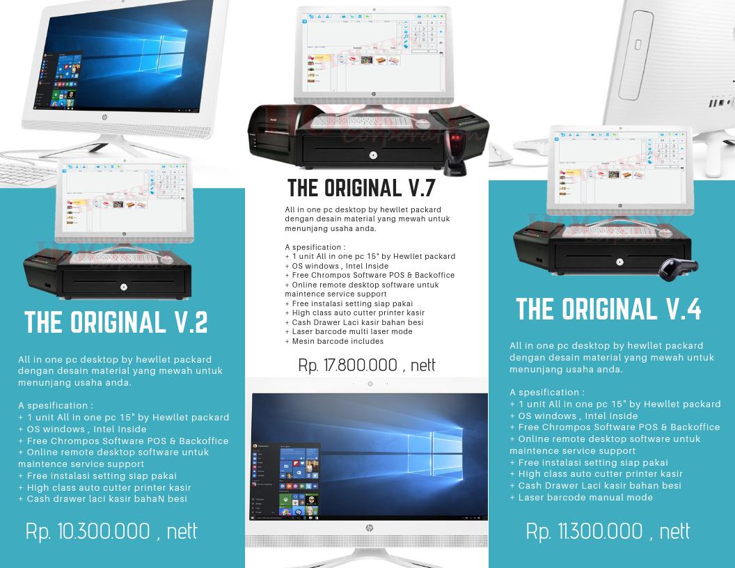 paket mesin kasir murah lengkap software kasir gratis chromispos