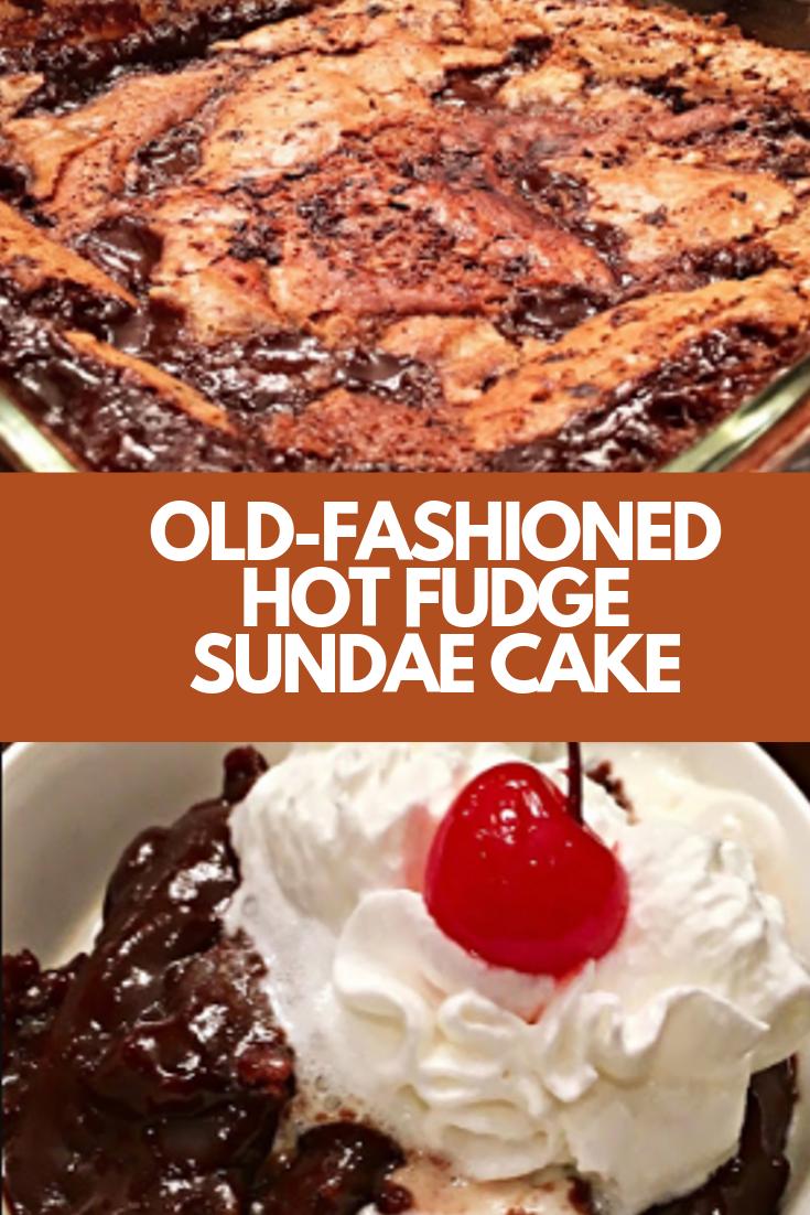 OLD-FASHIONED HOT FUDGE SUNDAE CAKE