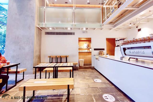 % Arabica Cafe Interior in W City Center