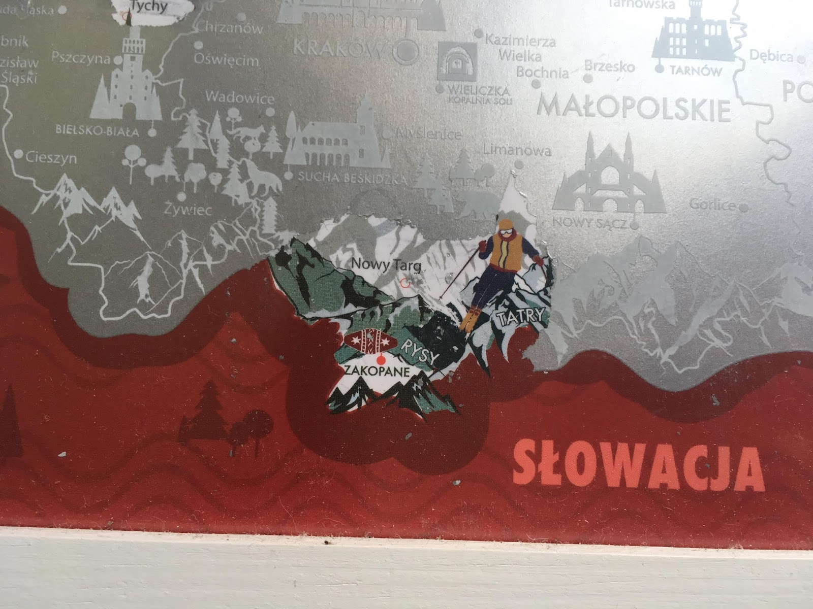 mapa polski zdrapka