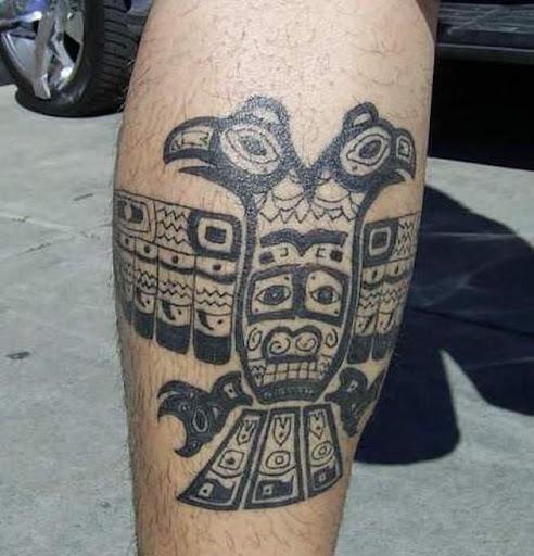 Este duplo sentido asteca pássaro