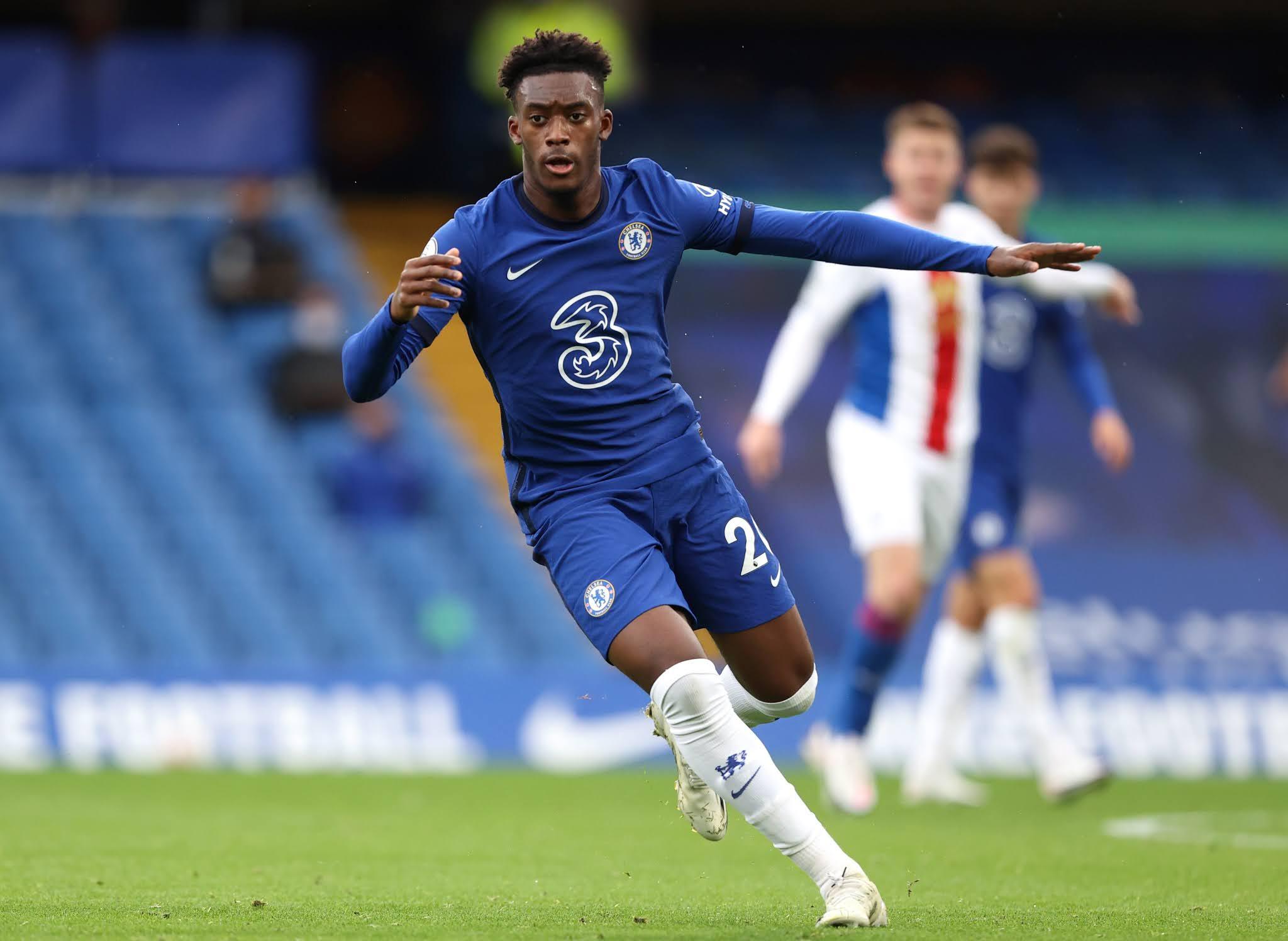 Chelsea's bright younger winger Callum Hudson-Odoi