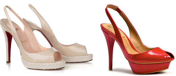 a95ff6cbbf6 The saga of the red-soled shoes continues. First Christian Louboutin  accused Yves Saint Laurent of mimicking the scarlet signature of his famous  shoes