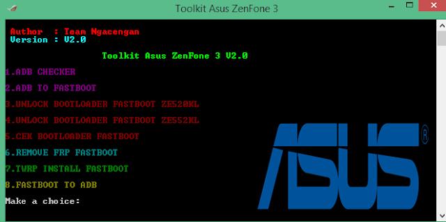 Unlock Bootloader-Frp-Twrp Asus Zenfone 3 Ze520kl & Ze552kl One Click