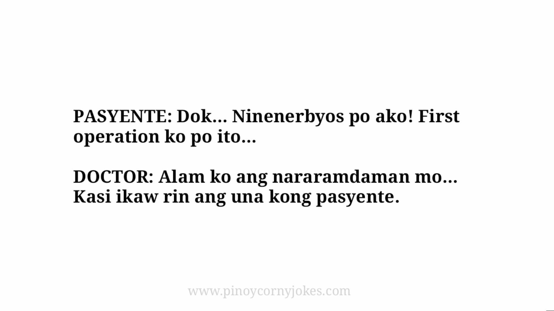 nerbyos tagalog jokes nurse
