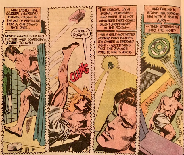 Image result for hal jordan slipping in a shower