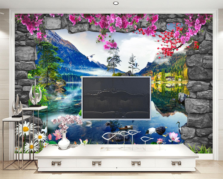 Tranh Dán Tường 3D Phong Thủy Trang Trí Phòng Khách MSP_T02