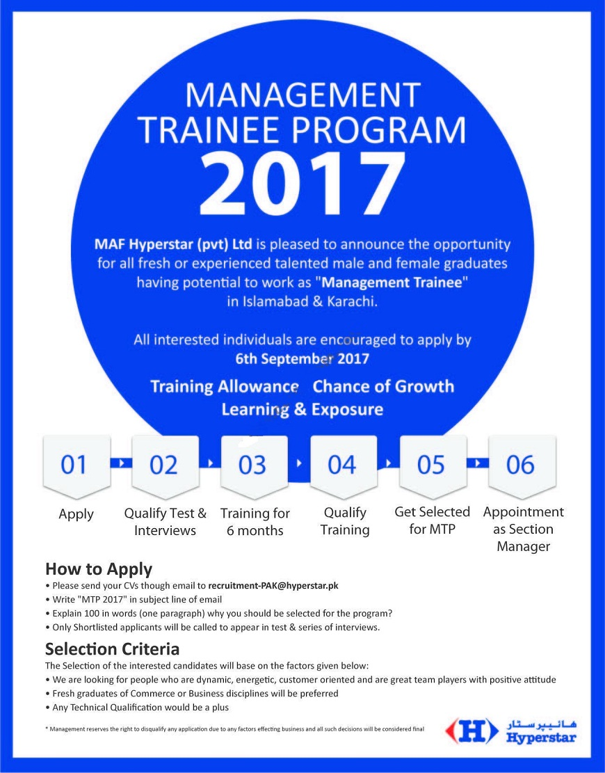 hyper star management trainee program 2017