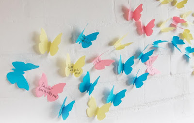 3D Butterfly Sticky Notes