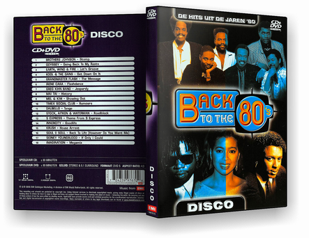 CAPA DVD – Back To The 80's – DVD-R