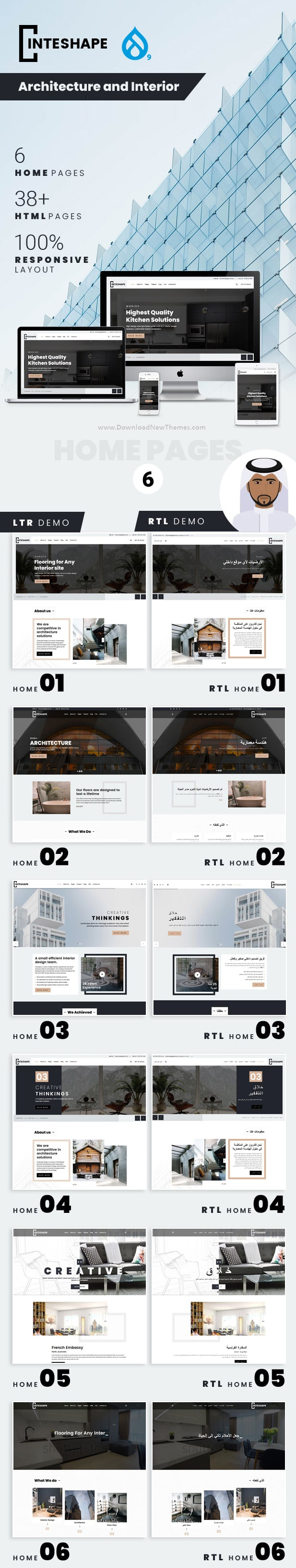 Architecture and Interior Drupal Theme