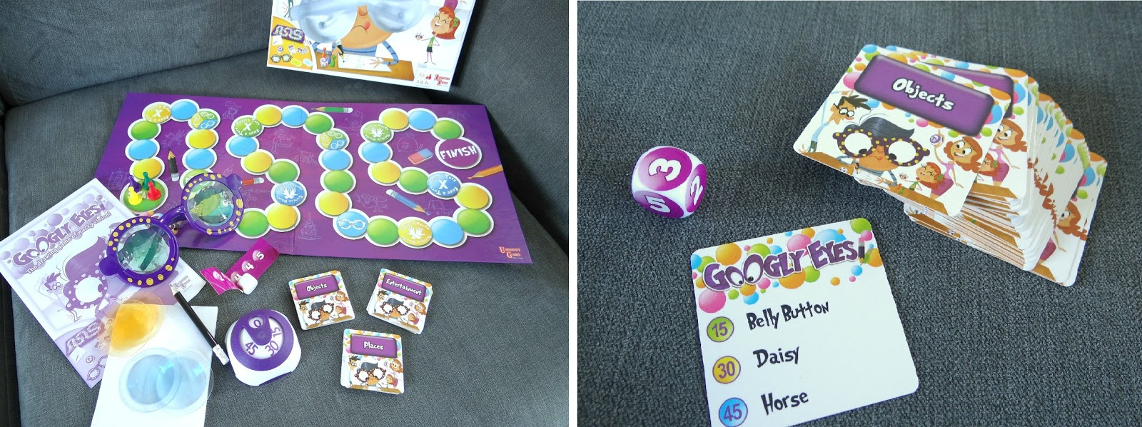 Google Eyes game, family board game, Christmas game