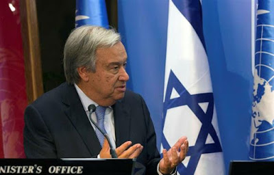 Guterres adverte em Israel que antissemitismo continua vivo no mundo