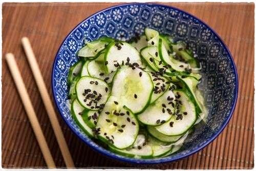 Receita Recipe Receta Sunomono Japanese Food Pepino