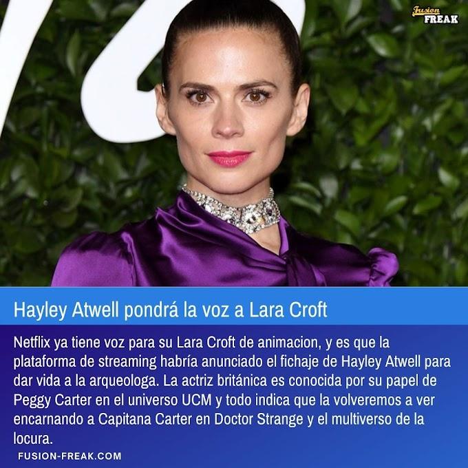 Hayley Atwell pondrá la voz a Lara Croft en la serie de Netflix
