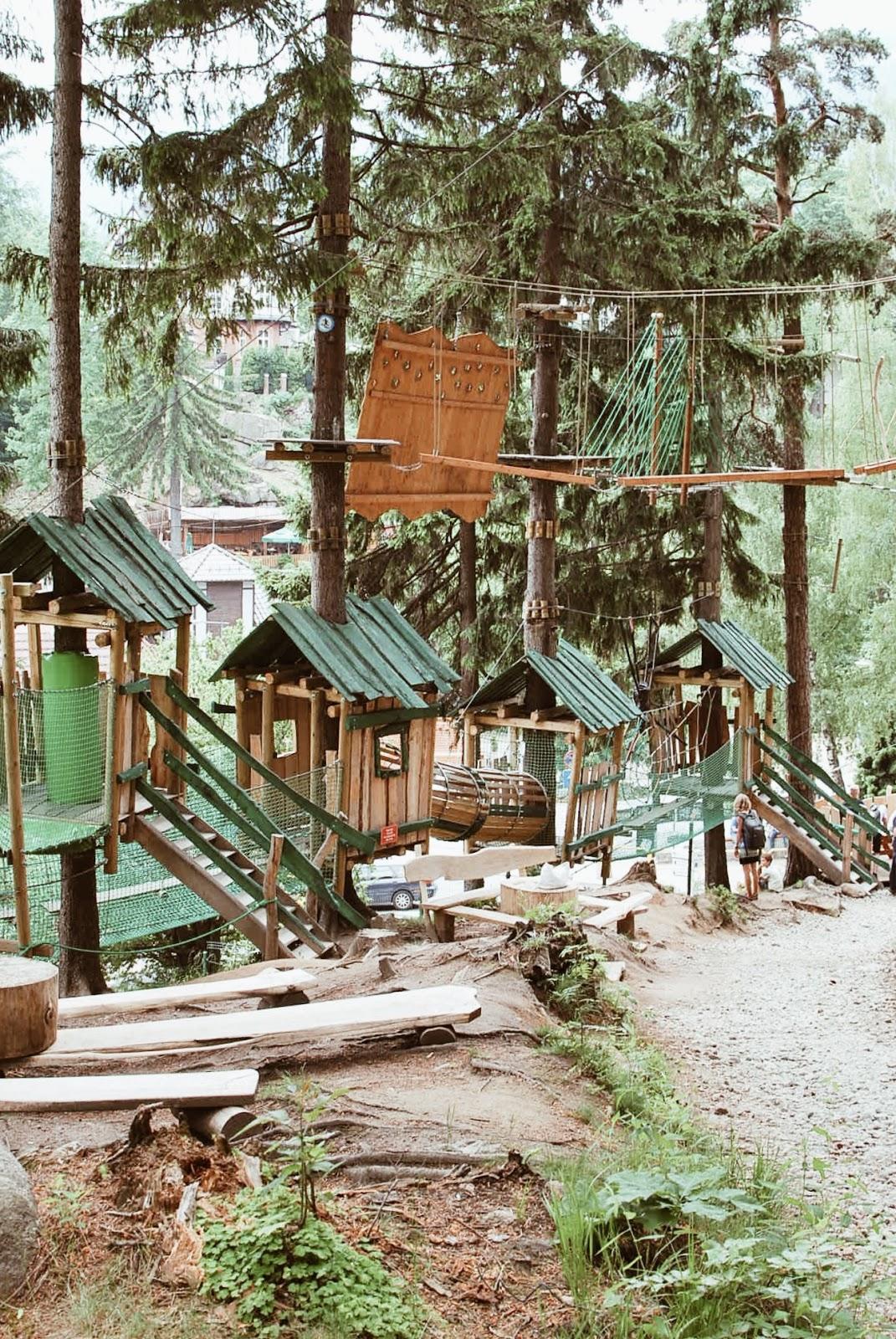 Park linowy Trollandia w Szklarskiej Porębie