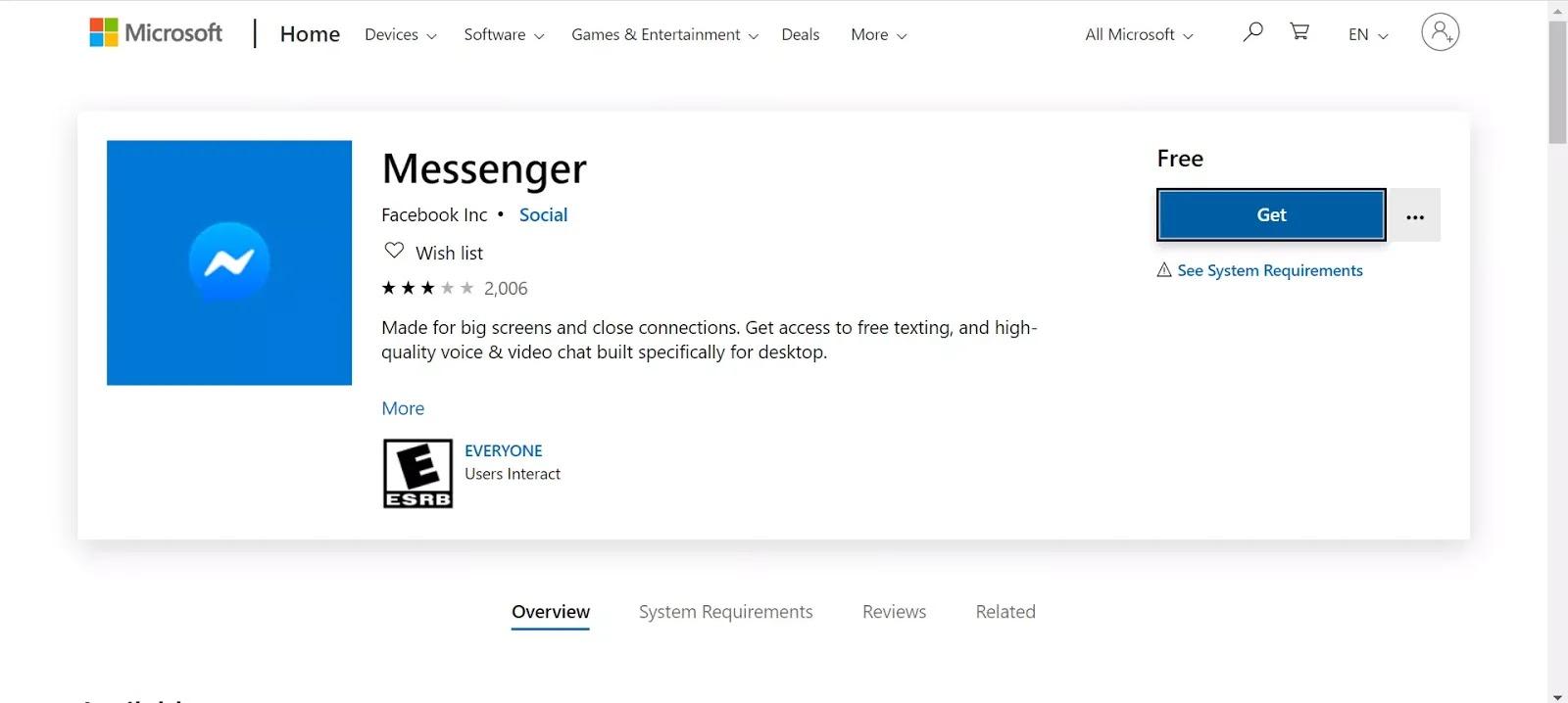 شرح تحميل تطبيق الماسنجر على ويندوز 10 من ميكروسوفت ستور