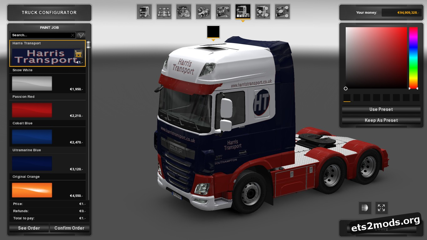 Harris Transport Skin for DAF Euro 6