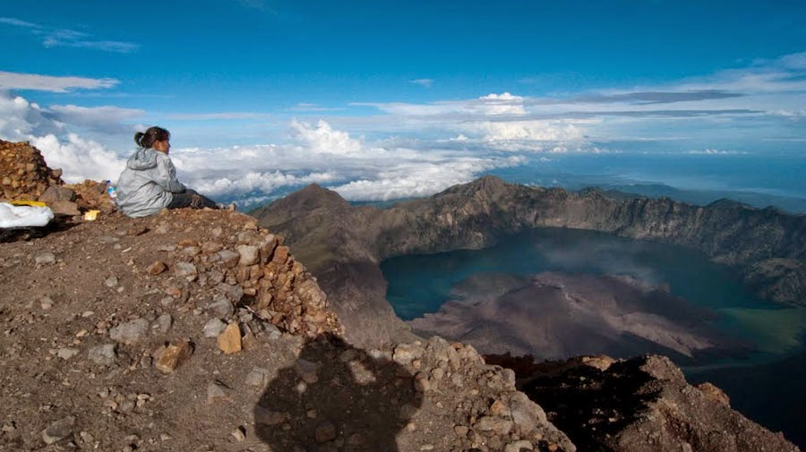 Summit of Mount Rinjani altitude 3726 m