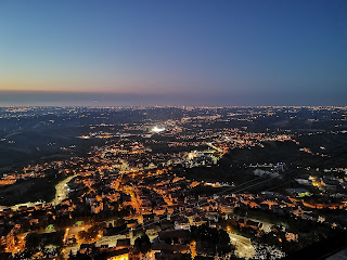 panorama nottoruno di San Marino