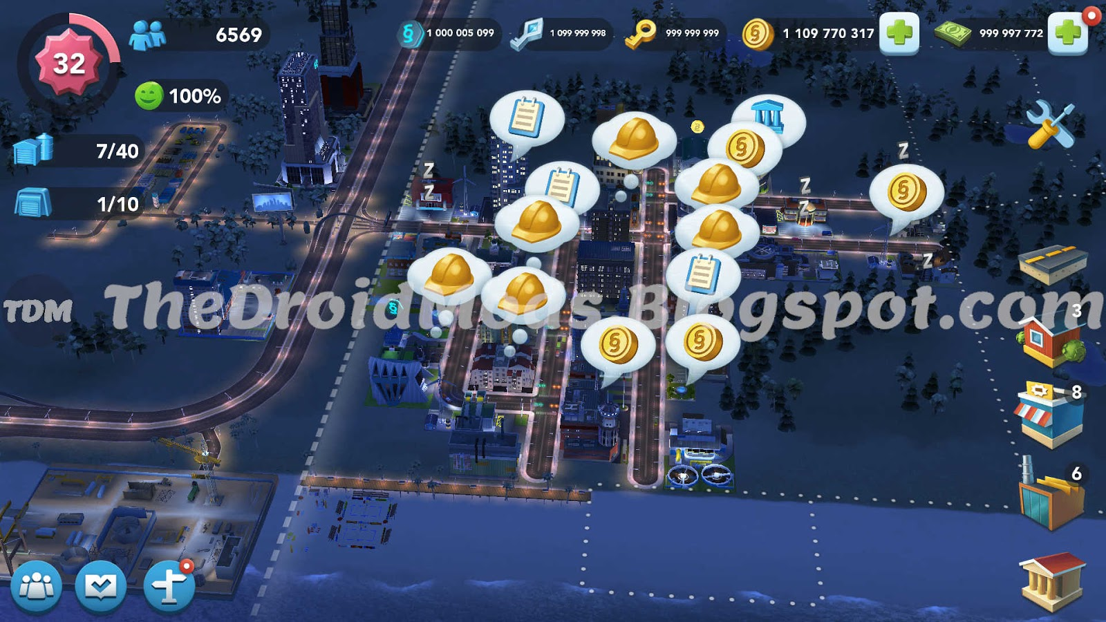 SimCity BuildIt Mod APK/Mega Mod Unlimited Simoleons,SimCash,NeoBank,Gold and Platinum Keys thedroidmods.blogspot.com