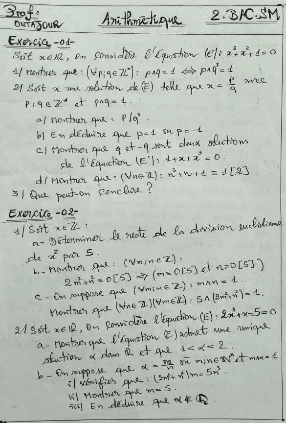 cours Arithmétiques