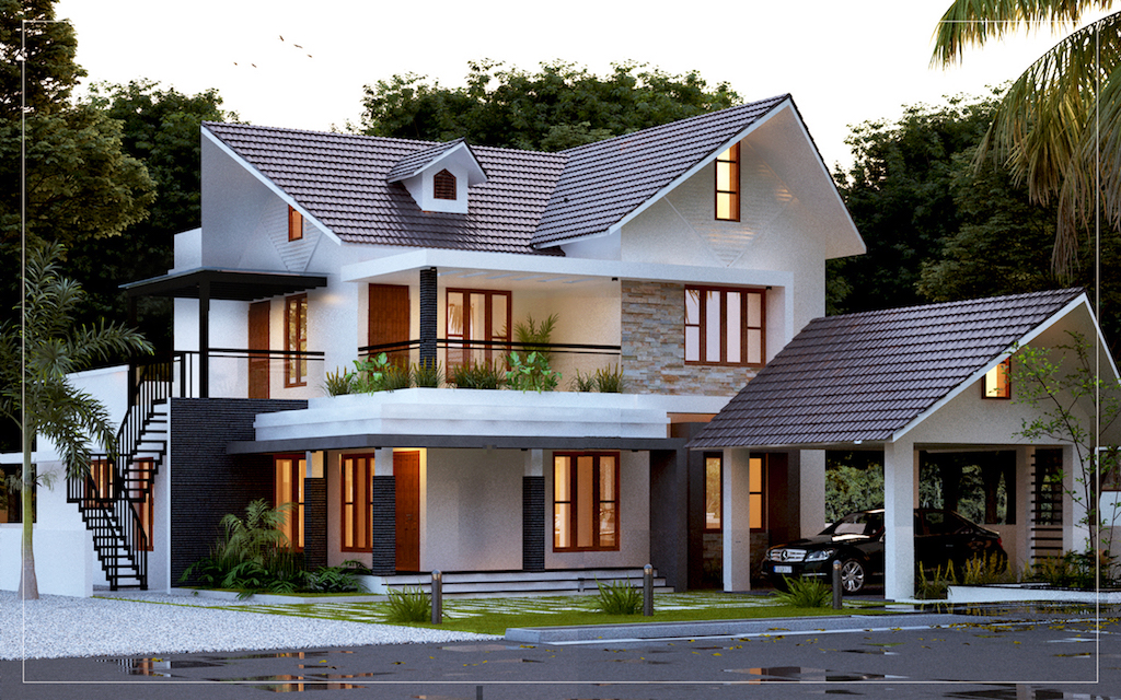 4bhk Kerala style home plans