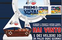 Logo ''Capitan Findus, Premi in vista'': vinci 125 Velieri 3D e 80 buoni spesa Coop da 50€