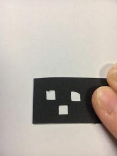切り絵のきれいな角の切り方解説(失敗例)