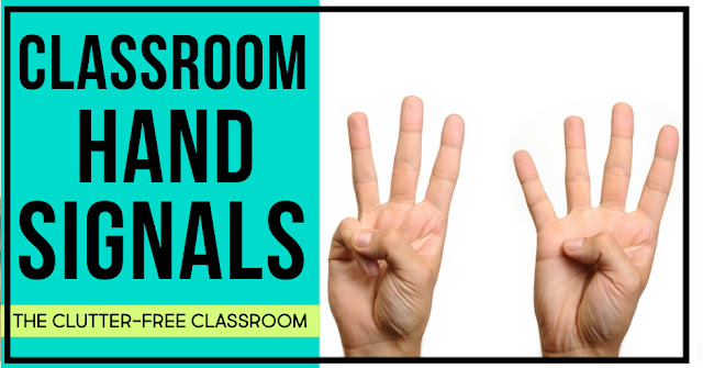 Learn how to improve classroom behavior, increase student learning and gain more time on task using hand signals for classroom management.