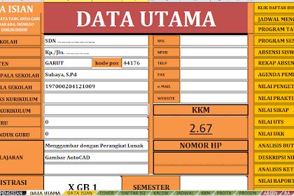 Download Aplikasi Format Perangkat Guru Lengkap Dalam Microsoft Excel