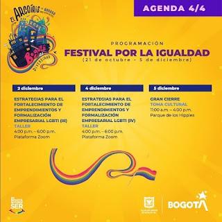 FESTIVAL POR LA IGUALDAD 2020 Agenda 4