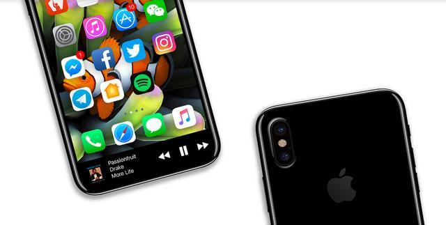 iPhone 8 渲染圖曝光,正面採用全屏幕設計