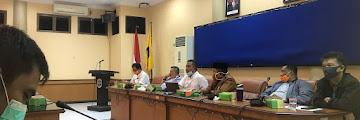 Rapat Program Karantina Yang Dilaksanakan oleh Pemkot Tarakan di Ruang Imbaya