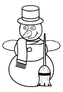 בובת שלג ציור