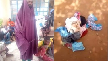 Niger Police arrest 24 year-old man who disguise in hijab to steal used female pants (photo)