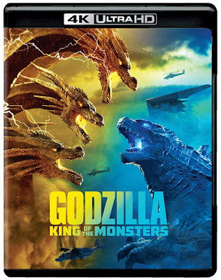 Cover art for 4K Ultra HD Blu-ray release of Godzilla: King of the Monsters (2019)!