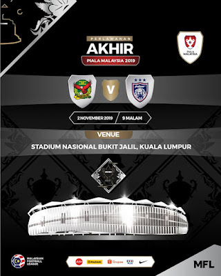 Live Streaming JDT vs Kedah Final Piala Malaysia 2.11.2019