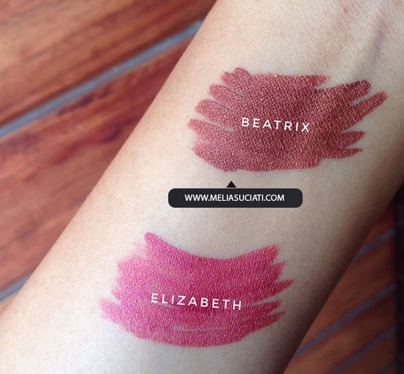 Zoya Cosmetics Metallic Lip Paint Elizabeth dan Beatrix (Review and Swatches)