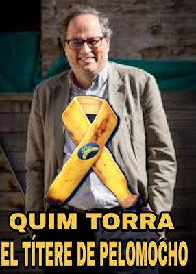 Joaquín Torra, president, Quim, títere de Pelomiocho