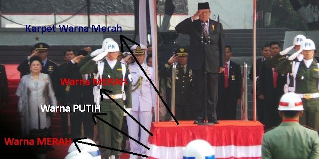 Jokowi Tidak 'Injak' Bendera Merah Putih di Upacara Hari Kesaktian Pancasila