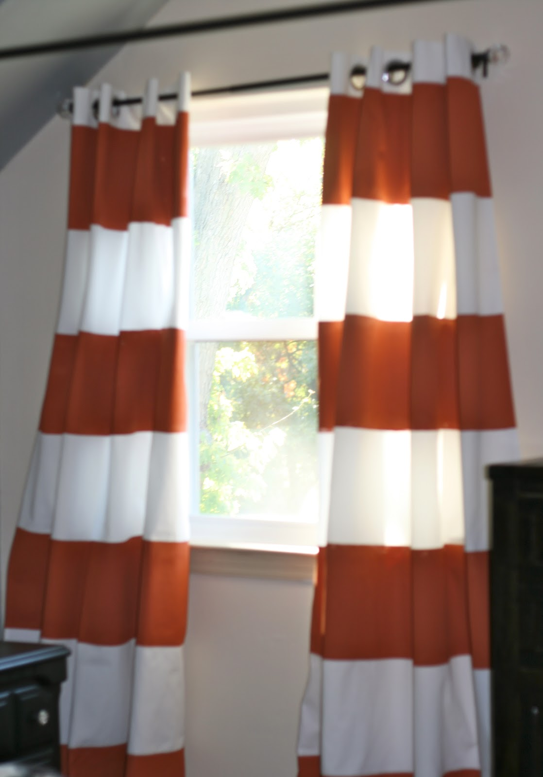 Hope Longing Life Painted Striped Curtains