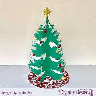 Custom Dies: Christmas Tree Table Top Home Decor, Christmas Tree Skirt
